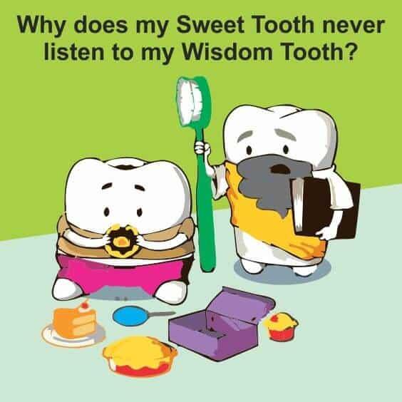 sweet tooth wisdom tooth meme