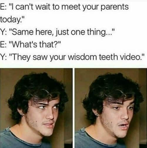 wisdom tooth video meme