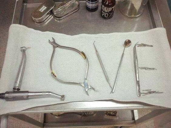 Love dentistry teeth valentines day